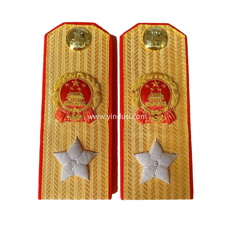 印度丝手工刺绣苏联元帅肩章金正红边55式常服影视道具五星徽章松枝纪念章